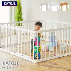 ベビーサークル | 木製ベビーサークル 扉付 「 選べる2色 」 KATOJI ( カトージ ) 送...