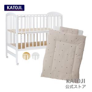 セット商品 ベビーベッドSC ナチュラル/ホワイト と布団7点セット スタイルドット|katoji