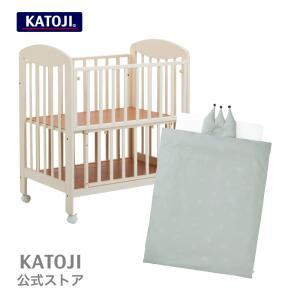 ミニベビーベッド ハイタイプ プチバニラ と ミニ布団セット( クラウン型枕 )「 選べる3柄 」 KATOJI ( カトージ )|katoji