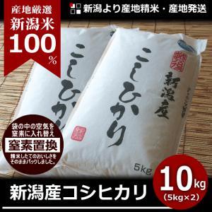 コシヒカリ 10kg 新潟産 新潟米 30年産 産地直送 特産品 名物商品 5kg×2袋|katoseika