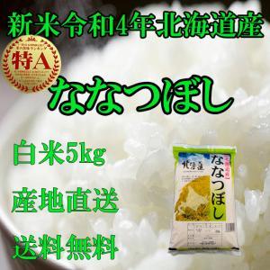 お米北海道産 白米ななつぼし5kg一等米 30年産 産地直送