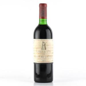 1974 シャトー・ラトゥール (フランス ボルドー 赤ワイン)
