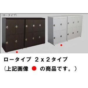 【価格ご相談致します。】ロータイプ 鍵付き下駄箱/鍵付きロッカー2x2段 完成品 カギ付き/かぎ付き|katsuyanetcompany