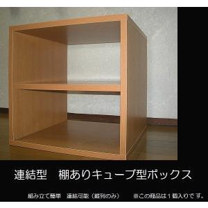 【送料無料】【代引不可】特別サービス品/連結式キューブ型ボックス中棚あり|katsuyanetcompany