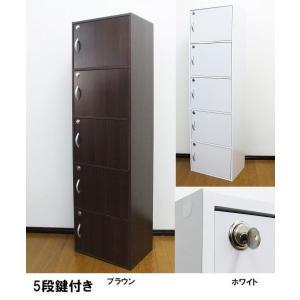 【送料無料】鍵付き収納棚 5段 カギ付き/かぎ付き|katsuyanetcompany
