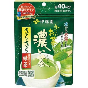 ★商品合計金額3000円(税込)以上送料無料★水でもお湯でもすぐ溶けるインスタントの緑茶です。天然カ...
