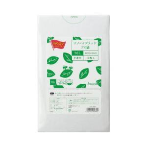 「カウコレ」プレミアム ナノハイブリット配合高密度ゴミ袋 70L 10枚|kaumall