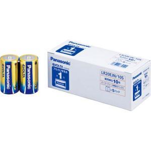 パナソニック 乾電池 アルカリ エボルタ 単1 10本入|kaumall