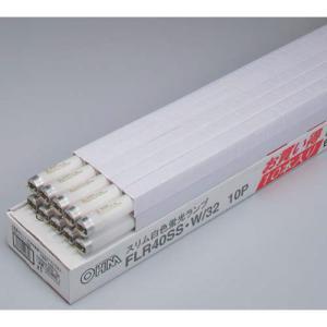 オームデンキ 蛍光灯 一般形 ラピッド スリム40W白色 10本|kaumall