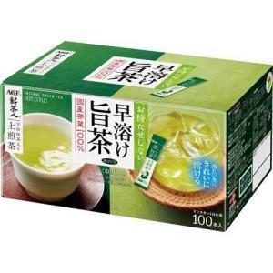 AGF 新茶人 宇治抹茶入り煎茶スティック 100本×2