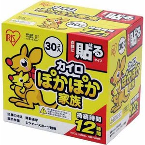 アイリスオーヤマ ぽかぽか家族 貼るレギュラー 30個×4箱|kaumall