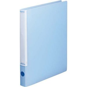「カウコレ」プレミアム マニュアルリングファイル背幅32mmA4縦薄青 kaumall