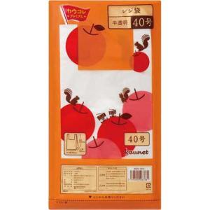 「カウコレ」プレミアム レジ袋半透明40号 厚み0.015 300枚×10|kaumall