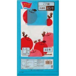 「カウコレ」プレミアム レジ袋半透明45号 厚み0.016 200枚×10|kaumall