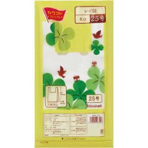 「カウコレ」プレミアム レジ袋乳白25号 厚み0.012 300枚×20|kaumall