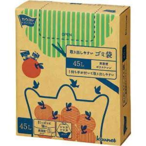 「カウコレ」プレミアム 取り出しやすい高密度ゴミ袋 45L 100枚 kaumall