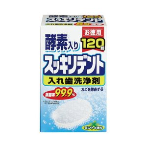 ライオンケミカル 入歯洗浄剤スッキリデント120錠×4箱 kaumall