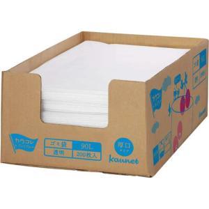 カウネット 箱入り増量ゴミ袋 低密度 厚口90L 200枚×3