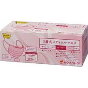 カウネット 3層式メディカルマスク ピンク 50枚入|kaumall