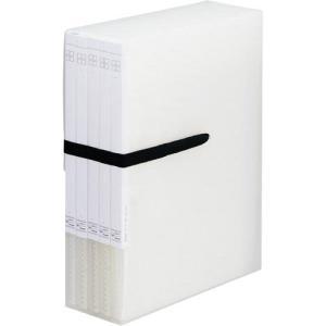 「カウコレ」プレミアム 整理がしやすいケース付クリヤーブック 透明5冊 kaumall
