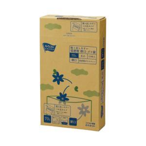 「カウコレ」プレミアム 取り出しやすい低密度厚口ゴミ袋 乳白 70L kaumall