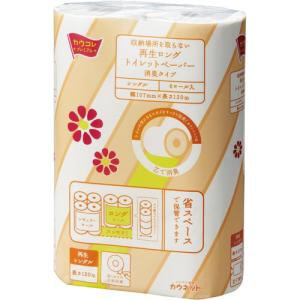 「カウコレ」プレミアム 消臭再生トイレットペーパー S120m 6個×4 |kaumall