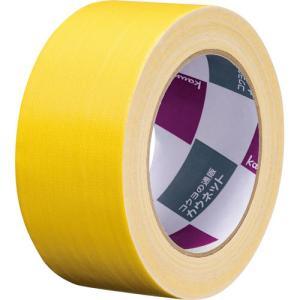 「カウコレ」プレミアム 手が痛くなりにくいカドなしカラー布テープ 黄 1巻|kaumall