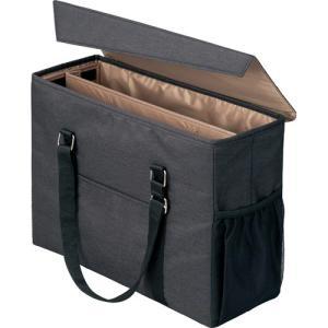 「カウコレ」プレミアム 外出に使えるミーティングバッグ 黒×薄茶_Yeig|kaumall