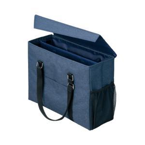 「カウコレ」プレミアム 外出にも使えるミーティングバッグ 紺×紺|kaumall