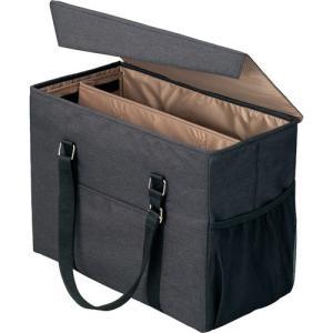 「カウコレ」プレミアム 外出に使えるミーティングバッグ ラージ 黒×薄茶|kaumall