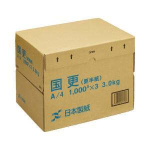 日本製紙 わら半紙 国更Y A4 1箱(1000枚×3冊) kaumall
