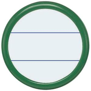 コクヨ 丸型名札安全ピン・クリップ両用型 直径50mm緑