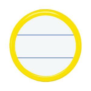 コクヨ 丸型名札安全ピン・クリップ両用型 直径50mm黄