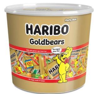 ハリボー ミニゴールドベア バケツ 980g (約100袋入り)HARIBO ハリボーグミ コストコ グミ(★食品バケツグミ)