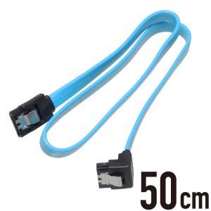 端子の片方がL型のSATAケーブル。 6Gbps対応。ケーブル抜けを防ぐラッチ付き。
