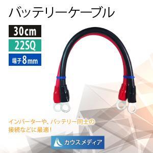バッテリーケーブル KIV22SQケーブル30cm 圧着端子8mm|kausmedia