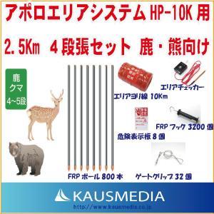 アポロエリアシステム HP-10k用 2.5Km4段張セット 鹿熊向け|kausmedia