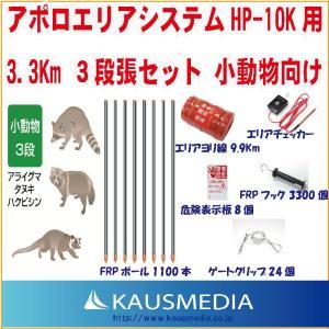 アポロエリアシステム HP-10k用 3.3Km3段張セット 小動物向け|kausmedia