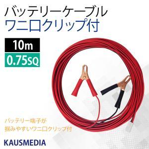 ワニ口クリップ付 バッテリーケーブル10m|kausmedia