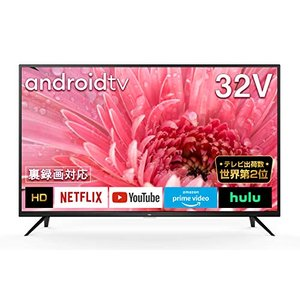 TCL 32型 ハイビジョン スマートテレビ(Android TV) ネット動画サービス対応液晶テレビ 外付けHDDで裏番組録画対応 202|kavutens
