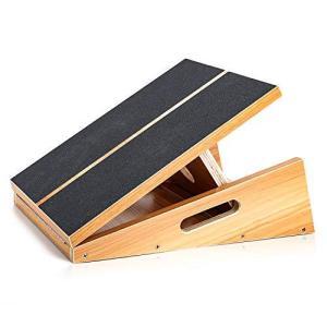 StrongTek ストレッチボード 木製 5段階調整 プロ品質 ふくらはぎ 足首 足 アキレス腱 太もも 股関節 手軽 ながらストレッチン|kavutens
