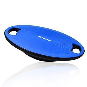 Mvarrvi バランスボード トレーニング ダイエット器具 滑り止め エクササイズ 持ち運び コアマッスル 耐荷重100キロ 直径40cm|kavutens