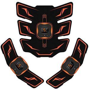 Mixiu EMS 腹筋ベルト 液晶表示 USB充電式 腹筋パッド 6種類モード 9段階強度 腕筋 背筋 トレーニン器具|kavutens