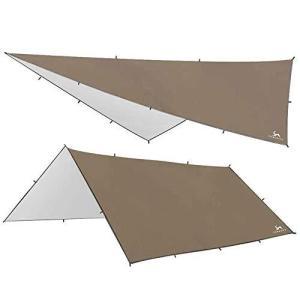 TOMOUNT タープ キャンプタープ 天幕シェード 防水 日焼け止め サンシェルター 遮熱 遮光 多機能 テントタープ コンパクト 軽量携|kavutens