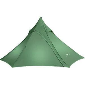 TOMOUNT ワンポールテント 1-2人用 軽量1.5KG 簡単設営 通気性抜群 防水 ティピーテント コンパクト 登山 キャンプ用 ソロ|kavutens