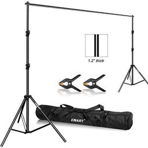 Emart 背景スタンド 写真撮影用 280cm x 300cm 調整可能 撮影スタンド キャリーバッグと2個強力クランプ付き 大型背景サポ|kavutens