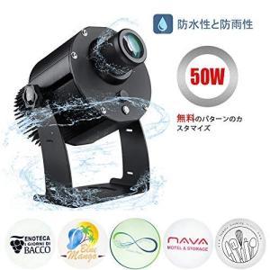 屋外の屋内使用のために防水50W LEDの注文のイメージのGoboのロゴプロジェクターライト,黒|kavutens