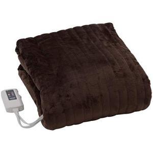 山善 ふわふわもこもこ 電気掛・敷毛布 (丸洗い可能) 188×130cm 表面フランネル・裏面プードルタッチ仕上げ 室温センサー付 YMK|kavutens