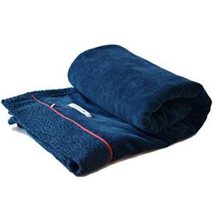 ブルーム 今治産 タオルケット 綿毛布 アヴニール シングル シープ加工 綿100% 日本製 (ネイビー)|kavutens