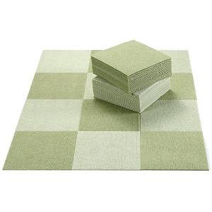 日本製 撥水 消臭 洗えるサンコー ずれない ジョイントマット 25×25cm グリーンセット 50枚組 カーペットタイプ おくだけ吸着 タ|kavutens